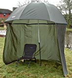 Bison 98' 2.5m TOP TILT Umbrella BROLLY Fishing Shelter with Zip ON Sides