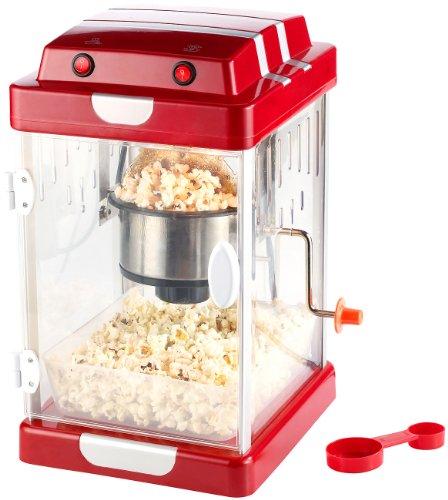 Rosenstein & Söhne Popkornmaschine: Retro-Popcorn-Maschine 'Movie' im 50er-Stil zum Popcorn-Selbermachen (Popcorn machine)