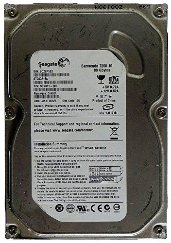 80GB HDD Seagate Barracuda 7200.10 ST380215A IDE ID11445
