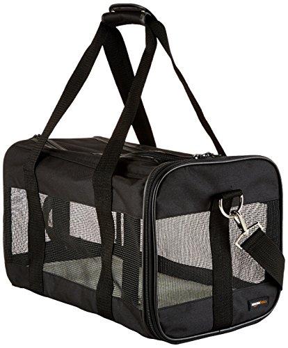 AmazonBasics Transporttasche für Haustiere, weiche Seitenteile, Schwarz, Gr. M