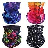 Mogokoyo 4 Stück Damen Herren Kinder Multifunktionstuch/Sturmmaske/Halstuch/Schlauchtuch/Face Shield für Motorrad Fahrrad Bergsteigen in vielen Farben (#2)