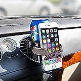 BESTEK Multifunktion Getränkehalter Lüftungshalterung Handyhalterung,geeingnet für Alle iPhone/Nokia / Samsung/Huawei / Xiaomi/Gigaset,Tarnish