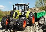 RC Traktor CLAAS Axion 870 + Anhänger in XL Länge 72cm 'Ferngesteuert'