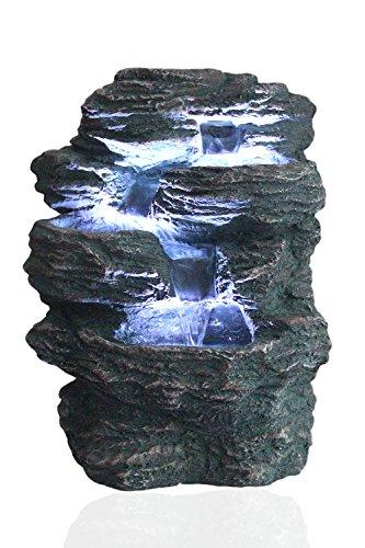 Springbrunnen 'Niagara' mit LED Beleuchtung IN-&OUTDOOR Zimmerbrunnen Gartenbrunnen Luftbefeuchter