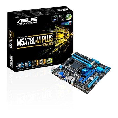 Asus M5A78L-M PLUS/USB3 Mainboard Sockel AM3+ (µATX, AMD 760G, 4x DDR3-Speicher, 6x SATA 3Gb/s, 4x USB 3.1 Gen 1, 8x USB 2.0)
