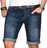 A. Salvarini Herren Designer Jeans Short Kurze Hose Slim Sommer Shorts Bermuda [AS-108-W32]