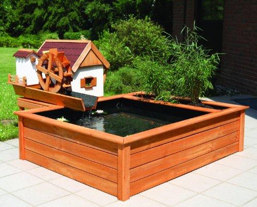 Promadino Set Wassermühle mit Hochteich und Podest