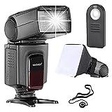 Neewer TT560 Speedlite Blitzgerät Kit für Canon Nikon Sony Pentax DSLR Kameras mit Standard Hot Shoe Inkl: 1x TT560 Blitzgerät+1xFernbedingung + 1x Universal klappbarer Flash Diffusor + 1x Objektiv Deckel Halter