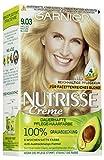 Garnier Nutrisse Creme Coloration Helles Natur-Blond 9.03 / Färbung für Haare für permanente Haarfarbe (mit 3 nährenden Ölen) - 3 x 1 Stück