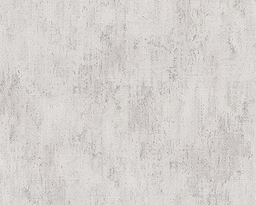 Metropolis by Michalsky Living Vliestapete South Beach Tapete Unitapete 10,05 m x 0,53 m creme grau Made in Germany 304578 30457-8