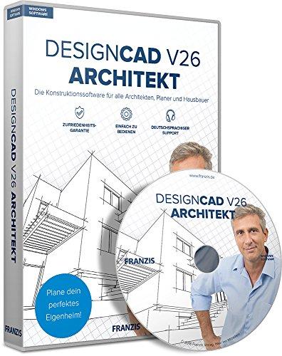 FRANZIS DesignCAD 3D MAX V26 Architekt Software Architekt 3 Geräte - Für Windows PC Disc Disc