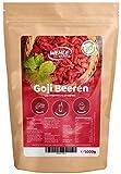 Goji Beeren 1kg ungeschwefelt, sonnengetrocknet, ohne Zusätze Original Goji Wolfsbeeren - 1000g Gojibeeren - Wehle Sports