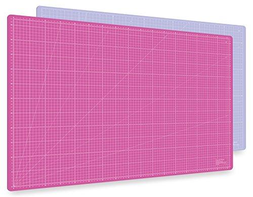 Selbstheilende Schneidematte A1 in Pink, Blau, Grün. Perfekt zum Nähen, Basteln und Patchworken. 90x60 beidseitig bedruckt. cm und inch Angabe