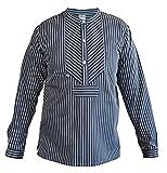 MADSea Damen Herren Fischerhemd klassisch gestreift Finkenwerder Stil, Größe:S