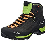 Salewa Ms MTN Trainer Mid GTX, Herren Trekking- & Wanderstiefel, Schwarz (Black/Sulphur Spring 0974), 46 EU