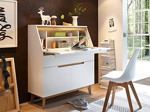 Sekretär Schreibtsich Bürotisch Laptoptisch Arbeitstisch Tisch 'Griffith I'