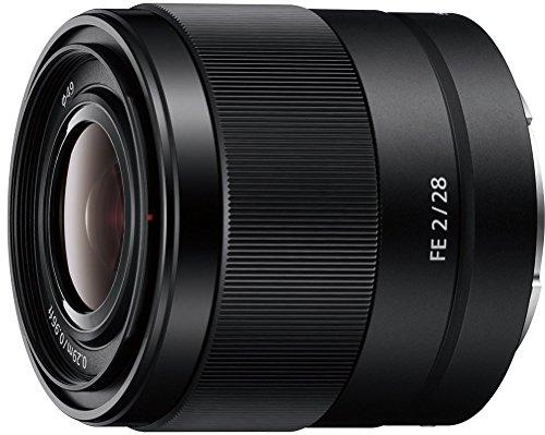 Sony SEL-28F20 Weitwinkel Objektiv (Festbrennweite, 28 mm, F2, Vollformat, geeignet für A7, A6000, A5100, A5000 und Nex Serien, E-Mount) schwarz