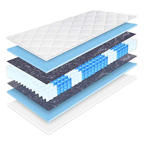 Matratzen Perfekt 20 cm hohe orthopädische 7-Zonen Taschenfederkernmatratze Köln Bezug waschbar, 60°C (120 x 200 cm, H3)