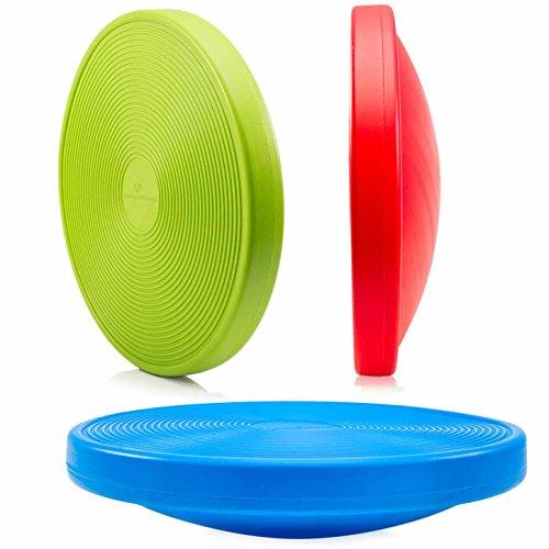 Balance-Board Durchmesser 40cm & Höhe 10cm Kreisel für Physiosport / Physiotherapie - Wackelbrett trainiert / stärkt das Körpergleichgewicht - Therapiekreisel / Koordinations Board »Orbital« grün