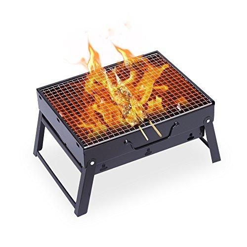 BBQ grill Mini Grill Camping Grill für Garten Camping Party BBQ ca. 43(L)*29(W)*23(H)cm