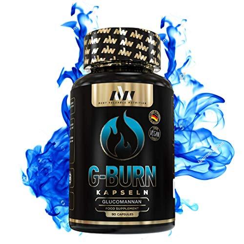 MVN Glucomannan Kapseln, Appetitzügler, Abnehmen, 100% natürlich, Stoffwechsel - Gewichtsverlust - Diät optimiert von Experten - 90 Kapseln