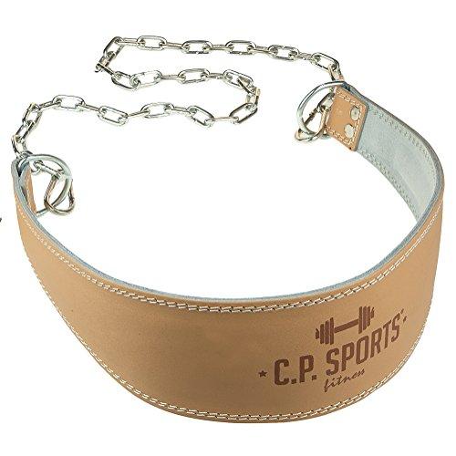 C.P. Sports Trainings Dip Gürtel Leder Komfort Gepolstert, Natur, One size, 38757