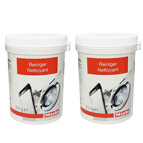 2er Pack Miele Maschinenreiniger 10133940 - Passend für Geschirrspüler, Waschmaschinen 200 g / Spülmaschinengeeignet