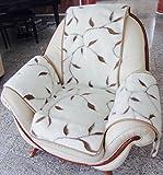 Sesselschoner 'Zweige', Sesselschoner, Sesselauflage, Überwurf, 100% Wolle