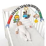 Singring Spielbogen Spielzeug für den Kinderwagen Bett oder Buggy mit Rassel und BB Gerät (Zebra)
