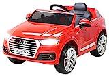Actionbikes Motors Kinder Elektroauto Audi Q7 2017 Original Lizenz Kinderauto Kinderfahrzeug Elektro Auto Spielzeug Für Kinder (Rot)