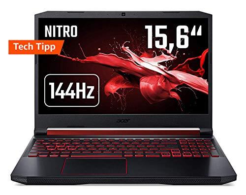 Acer Nitro 5 AN515-43-R90F 39,6cm (15,6 Zoll 144Hz Full-HD IPS matt) Gaming Notebook (AMD Radeon RX 560x, 8GB RAM, 512GB PCIe SSD, AMD Ryzen 5 3550H, Win 10) schwarz