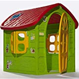TikTakToo Riesiges SPIELHAUS Maße: ca. 120 x 113 x 111 für Kinder Kinderhaus Bunt Gartenhaus Kinderspielhaus