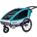 QERIDOO Fahrradanhänger Sportrex2 Design 2018 blau OneSize