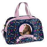Ragusa-Trade Mädchen Kinder Sporttasche Reisetasche mit tollem Pferde Motiv (PPKM) für Mädchen, blau/rosa, 40 x 25 x 13 cm
