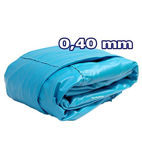 Innenhülle Rundpool Ø 3,60 x 0,90 m überlappend | Stärke 0,40mm blau
