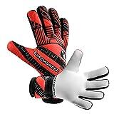 CATCH & KEEP Kralle Junior PRO - Premium Tormannhandschuhe für Kinder - Torwarthandschuhe mit extra starkem Grip (Rot, 7)