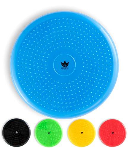 ZenOne Sports ZenBalance Balance Kissen Ball inkl. Pumpe I Kissen Rücken mit GRATIS E-Book & Workout-Guide I Aufblasbares Sitzkissen Ball als Gleichgewichtstrainer für Kinder und Erwachsene (Blau)