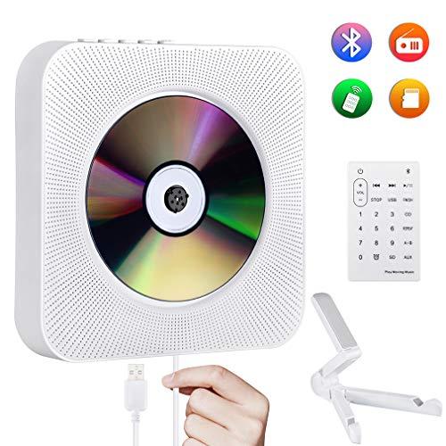 Tragbarer CD-Player Gueray Wandmontage Bluetooth Eingebaute HiFi-Lautsprecher FM-Radio Home-Audio USB-MP3-Player 3,5-mm-Kopfhöreranschluss AUX-Eingang / -Ausgang mit Pull-Switch/Fernbedienung