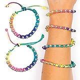 Baker Ross Armbänder in Neonfarben für Kinder (4 Stück) Mitgebsel und Preis für den Kindergeburtstag