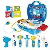 iBaseToy Arztkoffer für Kinder, Doktorkoffer zum Rollenspiel Doktor Medizinisches Kit Spielzeug Arzt Spielset Pretend Play Set -27 Stück