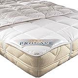 PROCAVE weiches Unterbett aus 100% Baumwolle, atmungsaktiver Matratzen-Schoner, hochwertige Matratzentopper, Matratzen-Auflage 140x200 cm