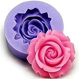 Qinlee Silikon-Form zum Backen und Basteln Blume Muster für Kuchen Muffins handgefertigte Seife Kekse Schokolade Eiswürfel 3D Mould Zufällige Farbe