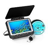 Lixada Fischfinder Unterwasser Eisfischen Kamera 4,3 'LCD Monitor 8 Infrarot IR LED Nachtsicht Kamera 140 ° Weitwinkel 15M / 30M 1000TVL