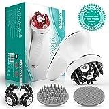 VOYOR Massagegerät Cellulite Elektrisch Handmassagegeräte Mini Cellulite Massage Gerät Kabellos mit Infrarot für Gesicht Nacken Schulter Rücken Füße Fußbad mit Gesichtsreinigungsbürste VRMM1-NEW