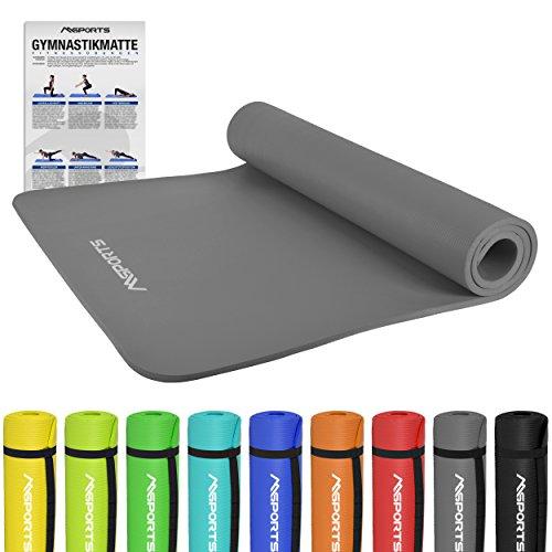 Gymnastikmatte Premium inkl. Übungsposter | Hautfreundliche - Phthalatfreie Fitnessmatte - in verschiedenen Größen und Farben-sehr weich extra dick-190 x 60 x 1,5 cm oder 190 x 100 x 1,5 cm Yogamatte