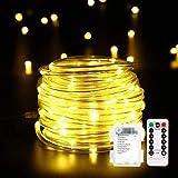 14M 120er LED Lichterschlauch mit Fernbedienung Timer, B-right 8 Modi Led schlauch mit Memory-Funktion für Innen Außen Party Weihnachten, IP67 Lichtschlauch Dekolicht Batteriebetrieben Warmweiß