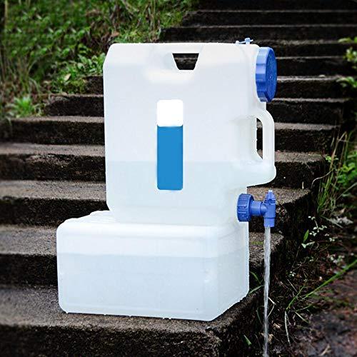 dizi248 Eimer Wasserbehälter, tragbar, fürs Auto, für Camping, Zuhause, Getränke, Eimer für Reisen, Wassertank mit Wasserhahn, 15 l