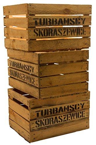 3er set massive Obstkiste Apfelkiste Weinkiste aus dem Alten Land +++ 49 x 42 x 31 cm (GEBRAUCHT MIT AUFSCHRIFT 'TS')
