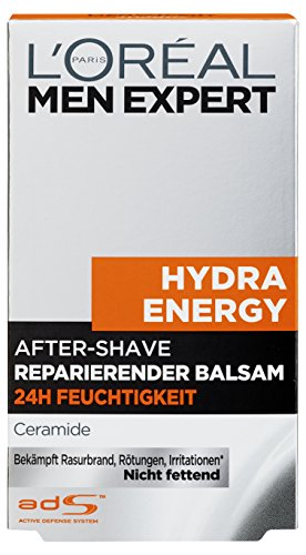 L'Oréal Men Expert Aftershave Balsam Hydra Energy 24h Feuchtigkeit, 1er (1 x 100 ml)