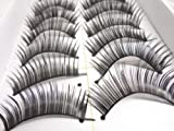 Beautylife 1 Paar 3D Lang Kreuz künstliche Wimpern Schwarz Eyelasches Wimpernverlängerung